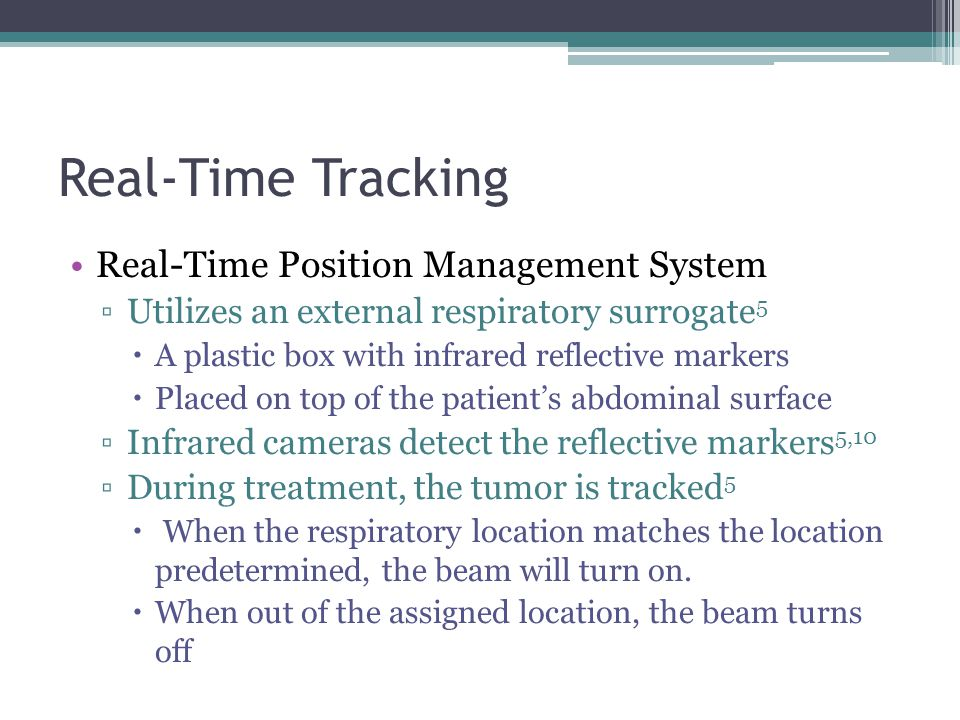 Real-Time Tracking Real-Time Position Management System