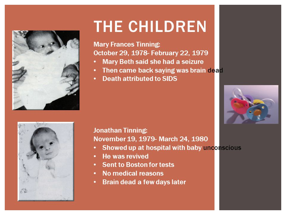 The Children Mary Frances Tinning: October 29, 1978- February 22, 1979