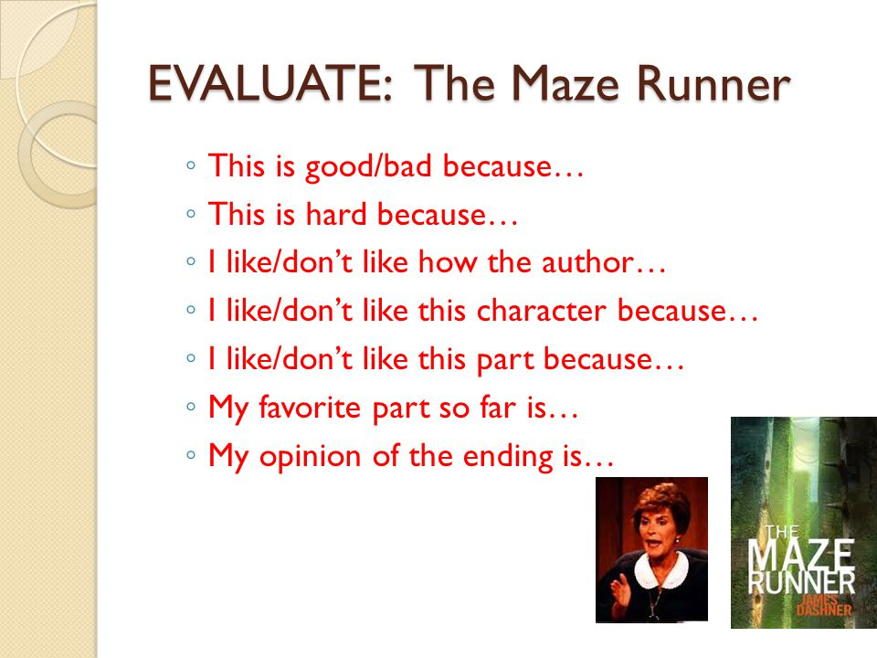 EVALUATE: The Maze Runner