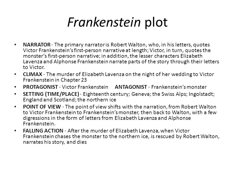 Frankenstein plot
