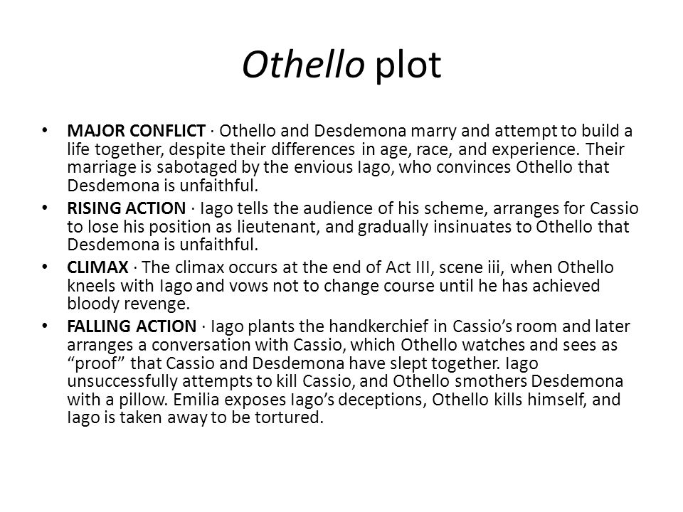 Othello plot
