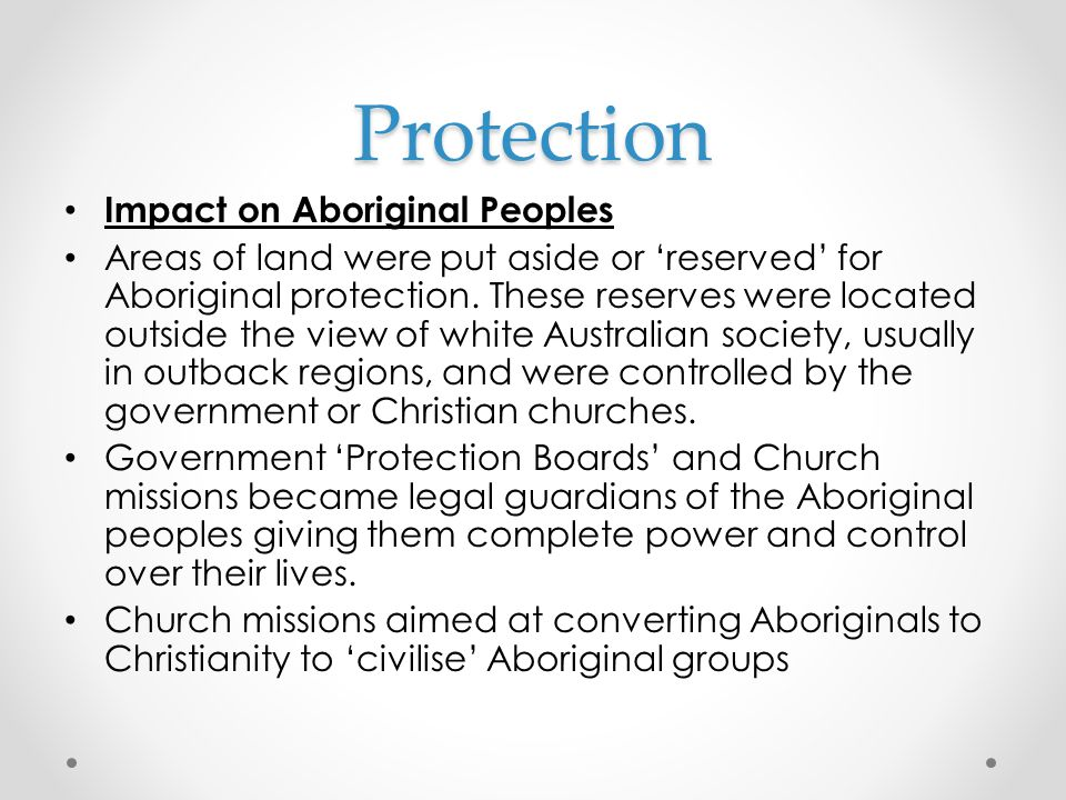 Protection Impact on Aboriginal Peoples