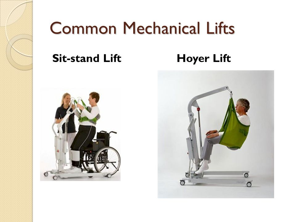 Common Mechanical Lifts