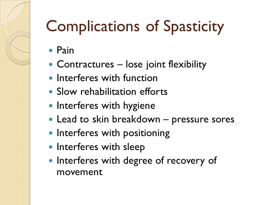 Complications of Spasticity