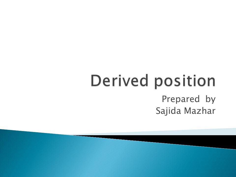 Prepared by Sajida Mazhar