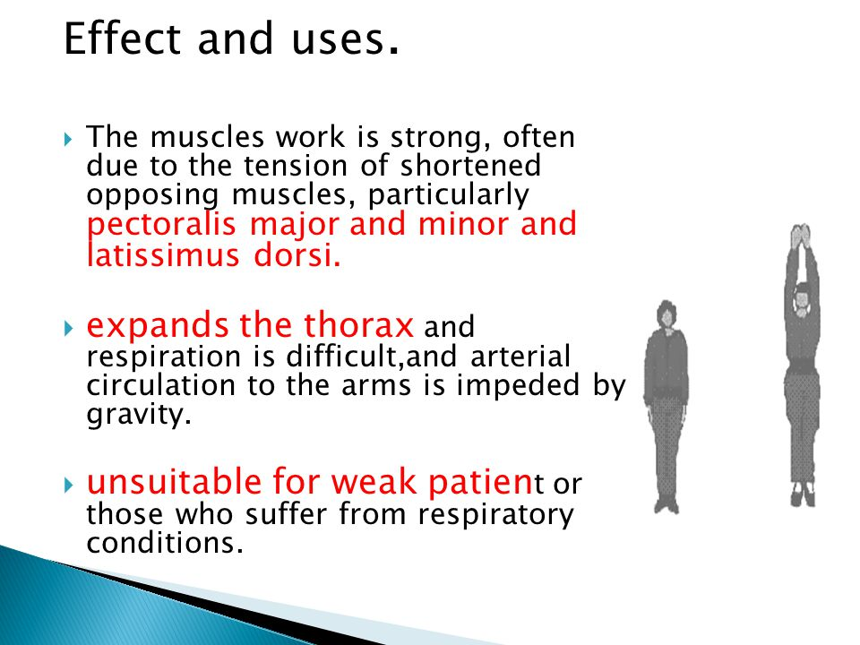 Effect and uses.