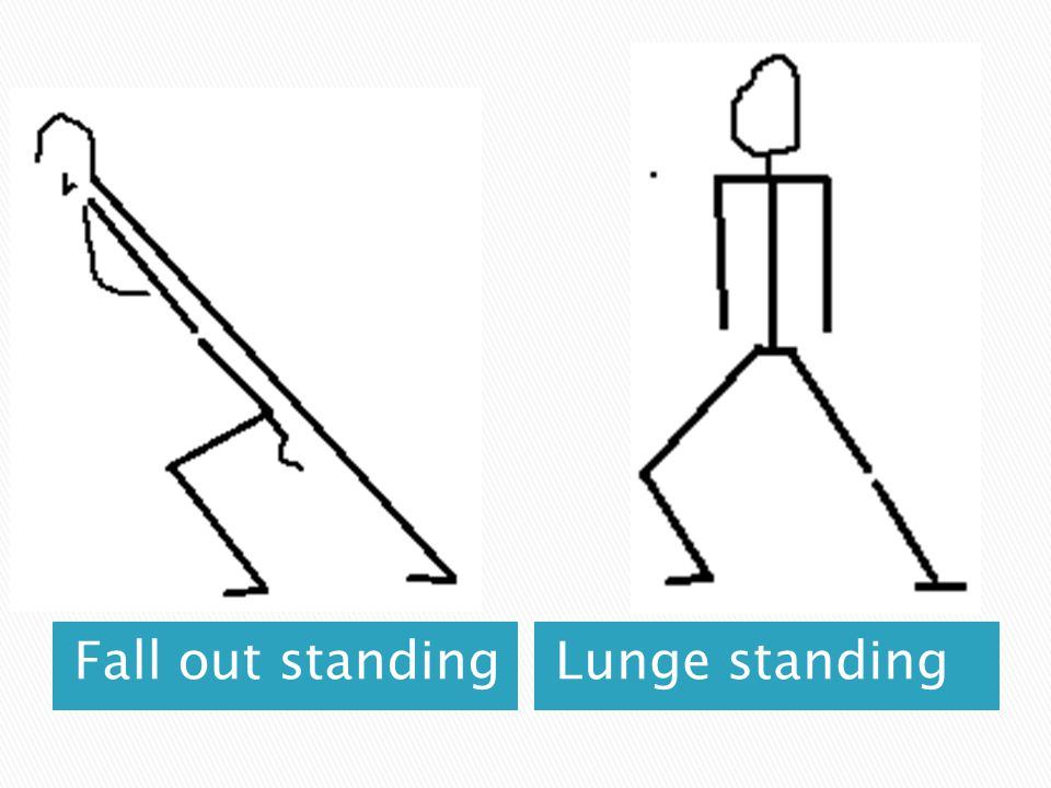 Fall out standing Lunge standing