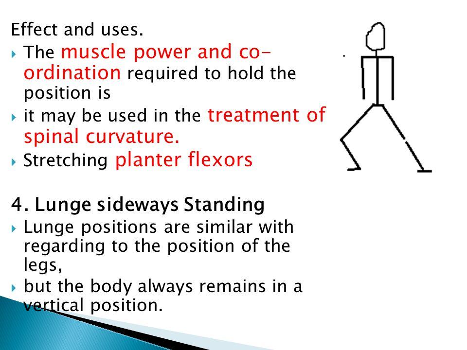 4. Lunge sideways Standing