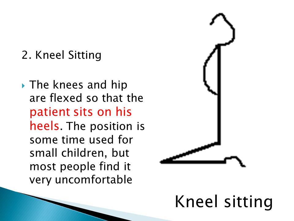 Kneel sitting 2. Kneel Sitting