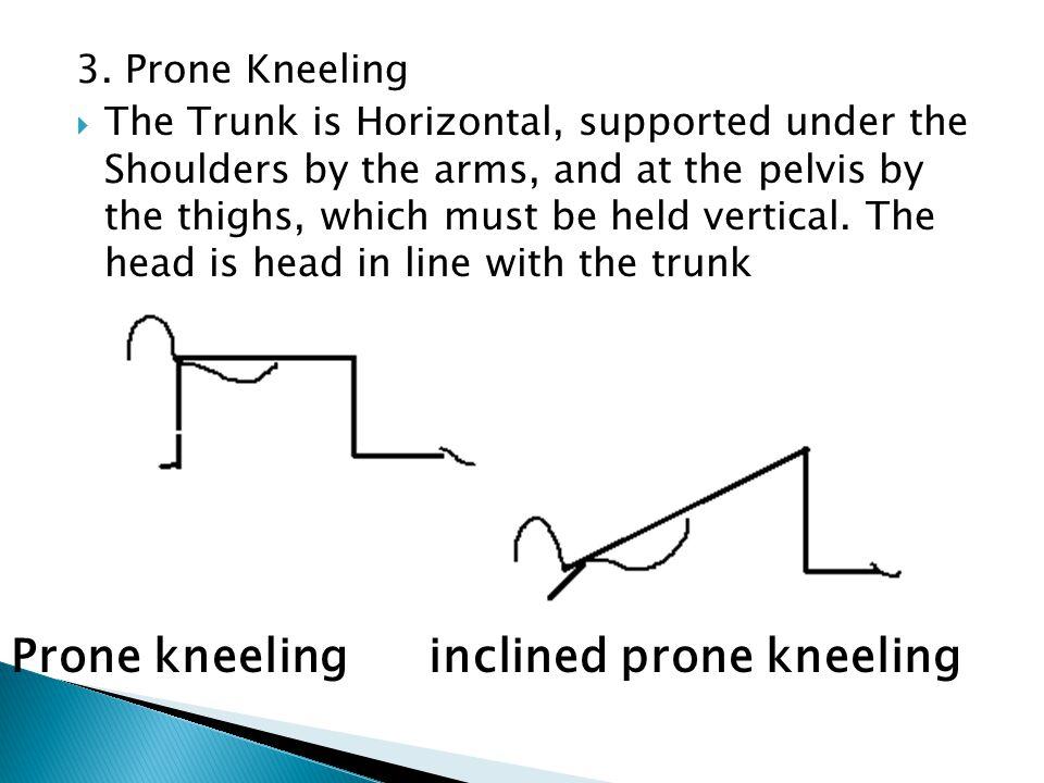 Prone kneeling inclined prone kneeling