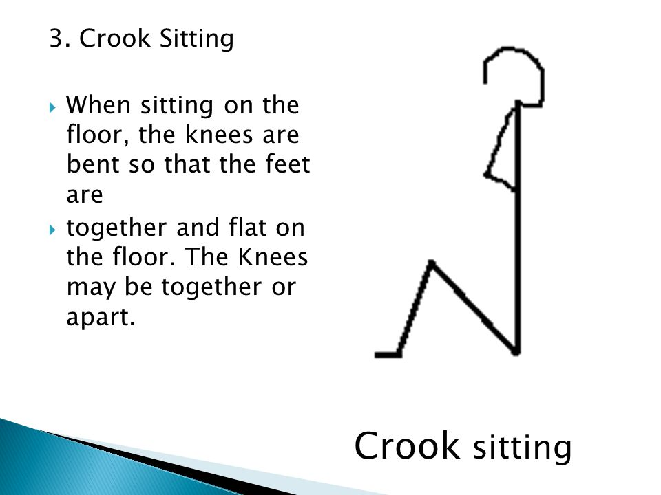 Crook sitting 3. Crook Sitting
