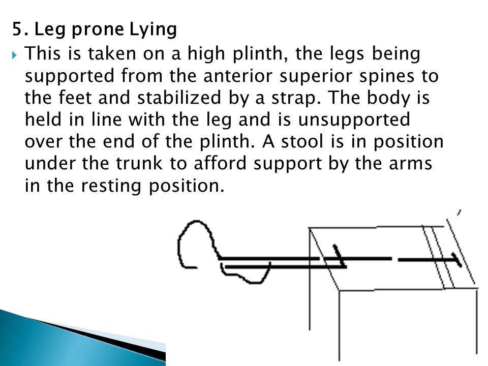 5. Leg prone Lying