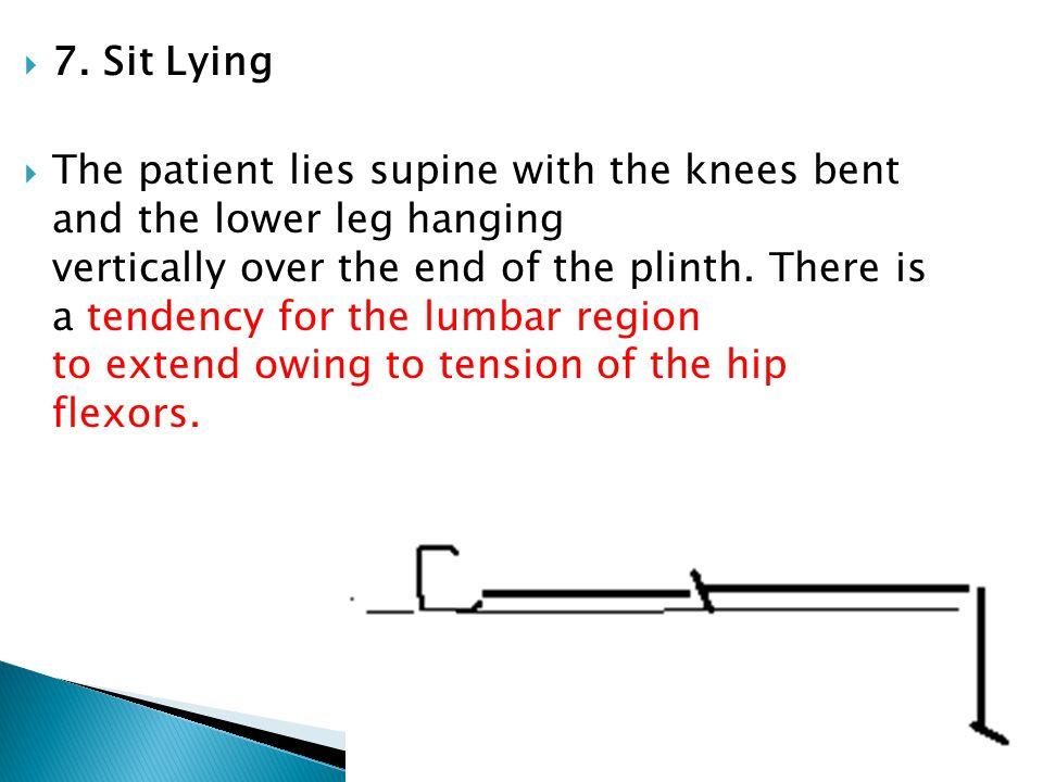 7. Sit Lying
