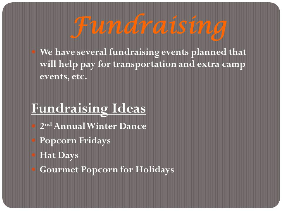Fundraising Fundraising Ideas