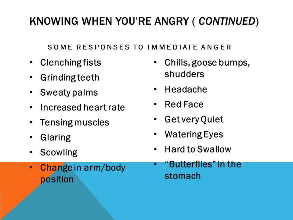 Knowing when you're angry ( Continued)