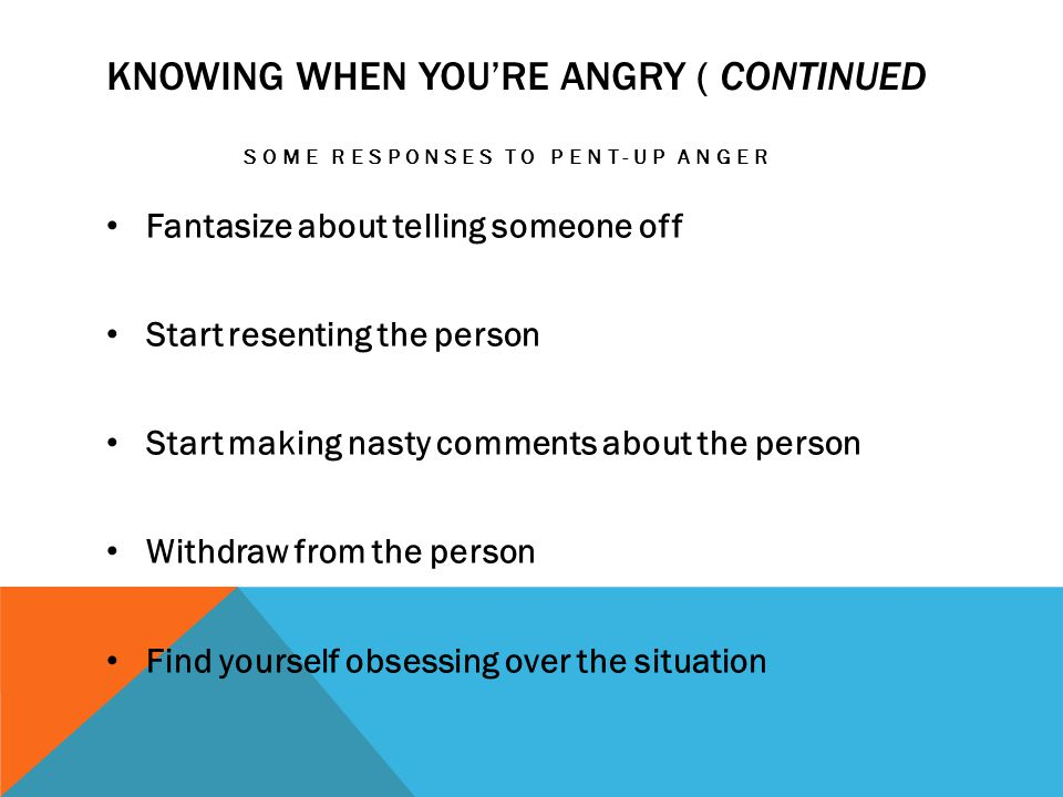 Knowing when you're angry ( Continued