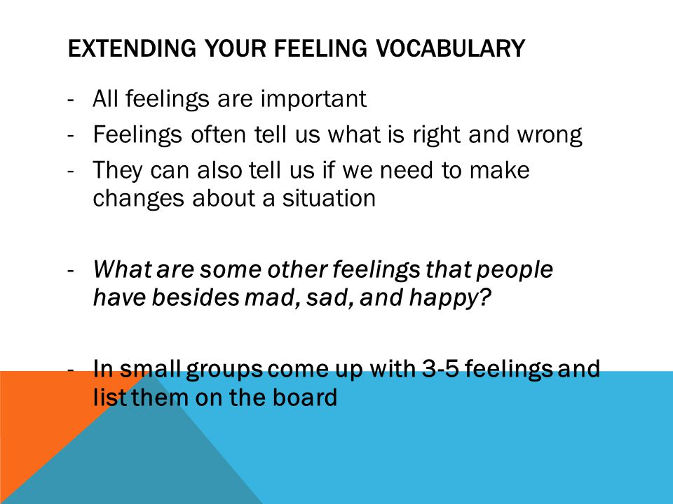 Extending your feeling vocabulary