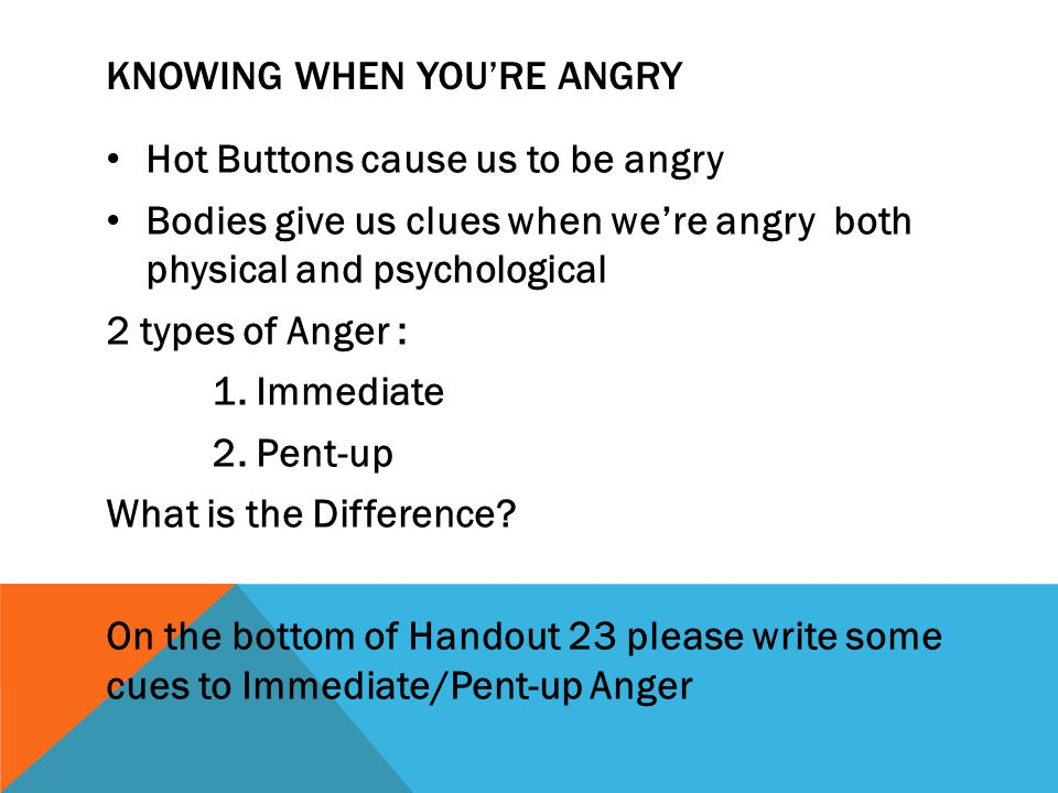 Knowing when you're angry