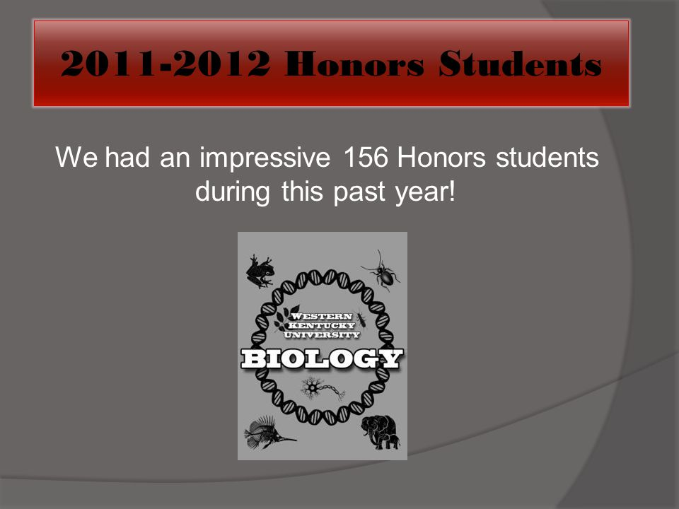We had an impressive 156 Honors students during this past year!