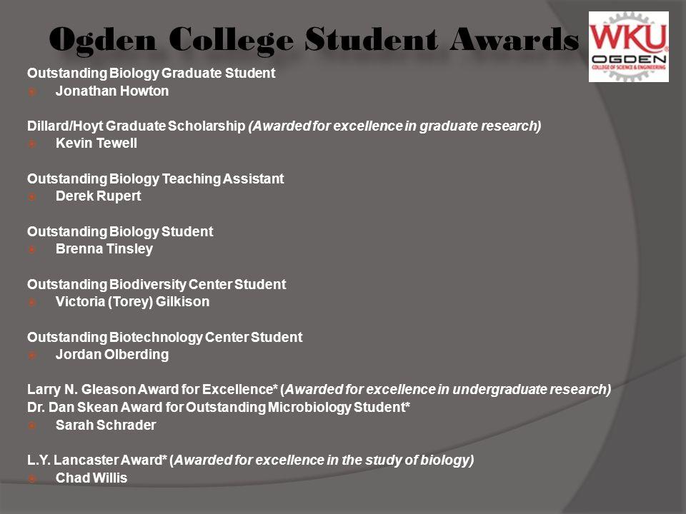 Ogden College Student Awards