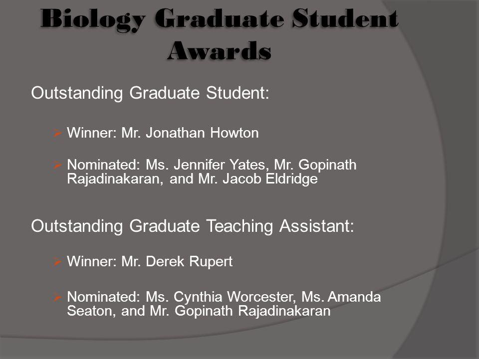 Biology Graduate Student Awards