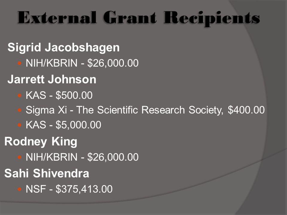 External Grant Recipients