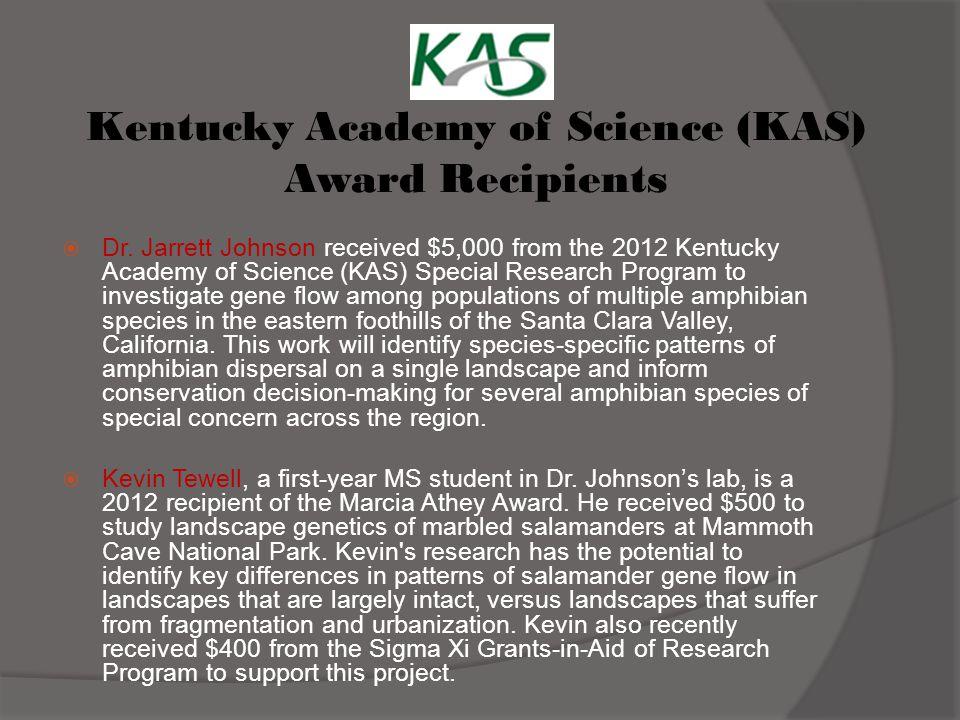 Kentucky Academy of Science (KAS) Award Recipients