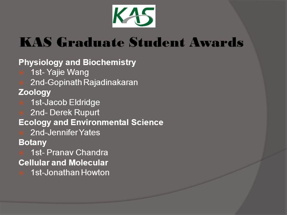 KAS Graduate Student Awards