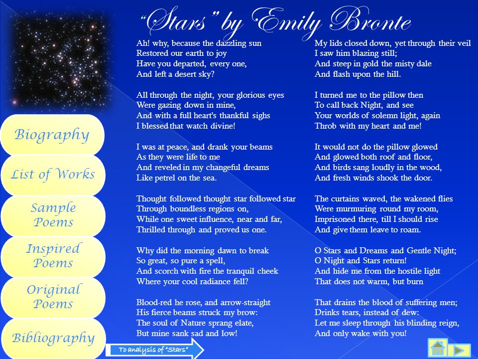Stars by Emily Bronte