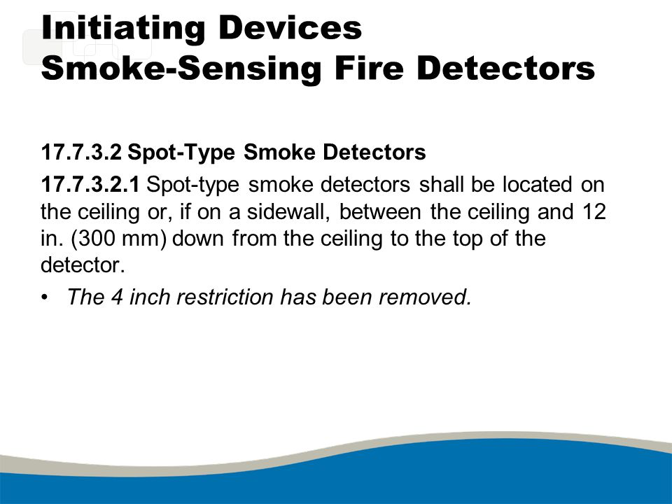 Initiating Devices Smoke-Sensing Fire Detectors