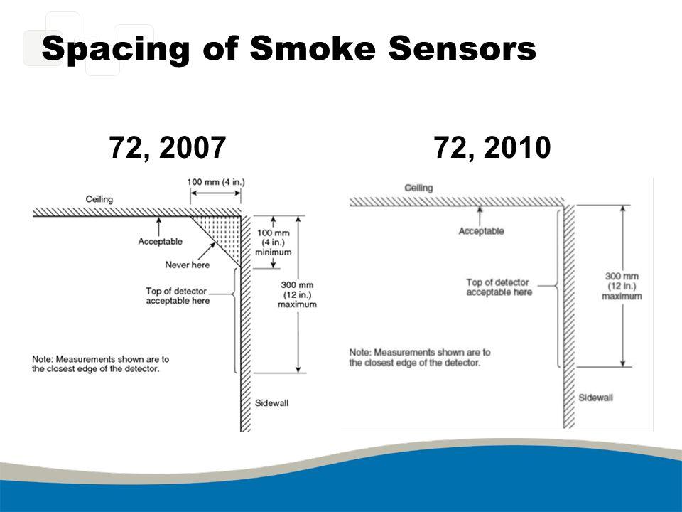 Spacing of Smoke Sensors