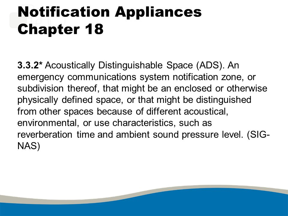 Notification Appliances Chapter 18