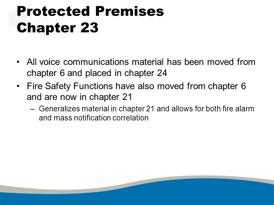 Protected Premises Chapter 23
