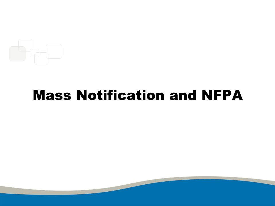 Mass Notification and NFPA