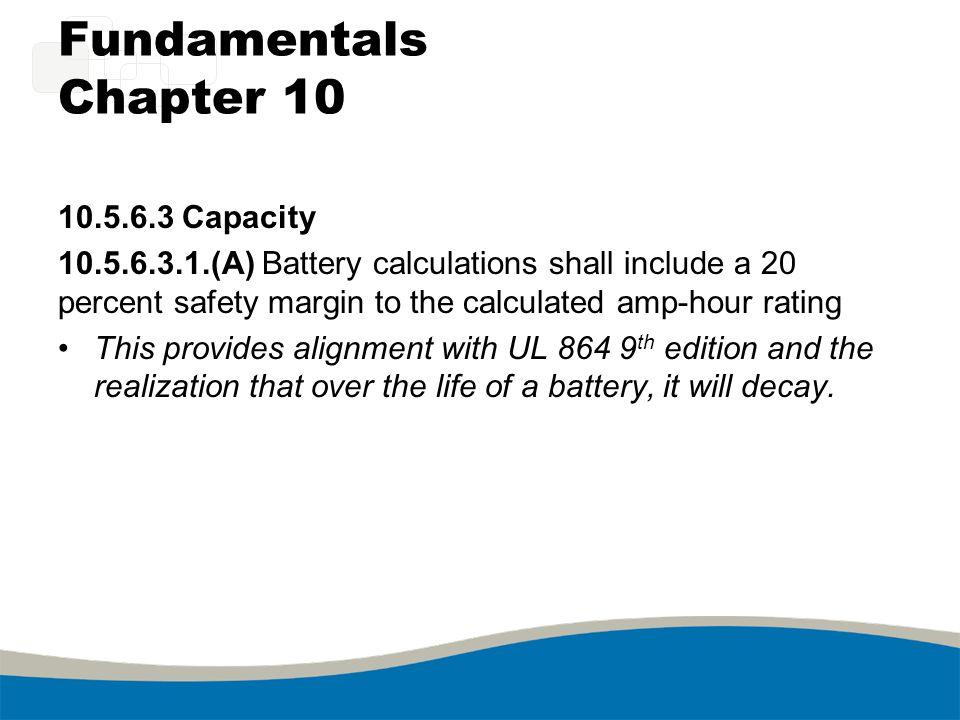 Fundamentals Chapter 10 10.5.6.3 Capacity