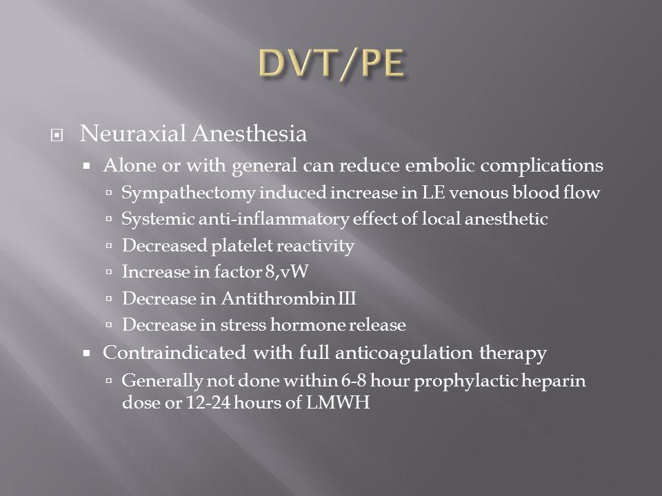 DVT/PE Neuraxial Anesthesia
