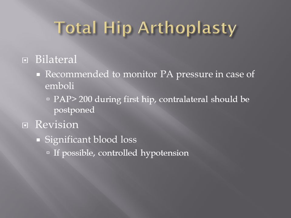 Total Hip Arthoplasty Bilateral Revision