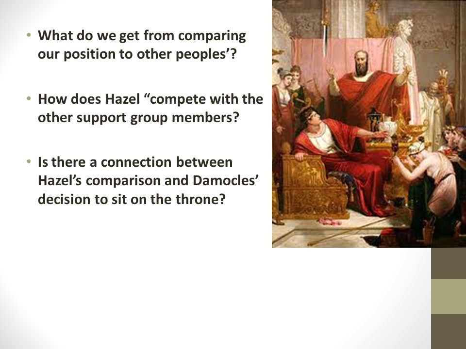 What do we get from comparing our position to other peoples'