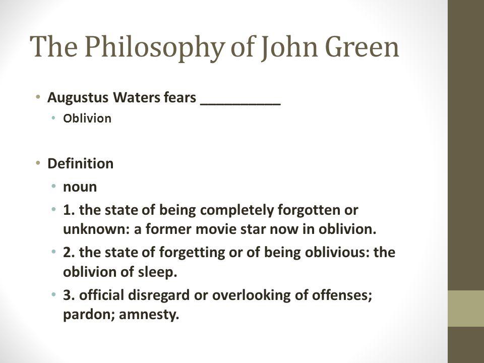 The Philosophy of John Green