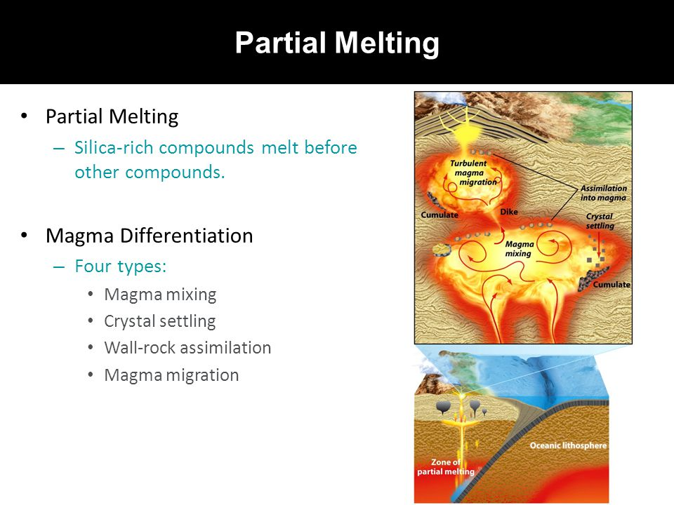 Partial Melting Partial Melting Magma Differentiation