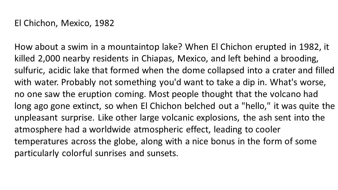El Chichon, Mexico, 1982