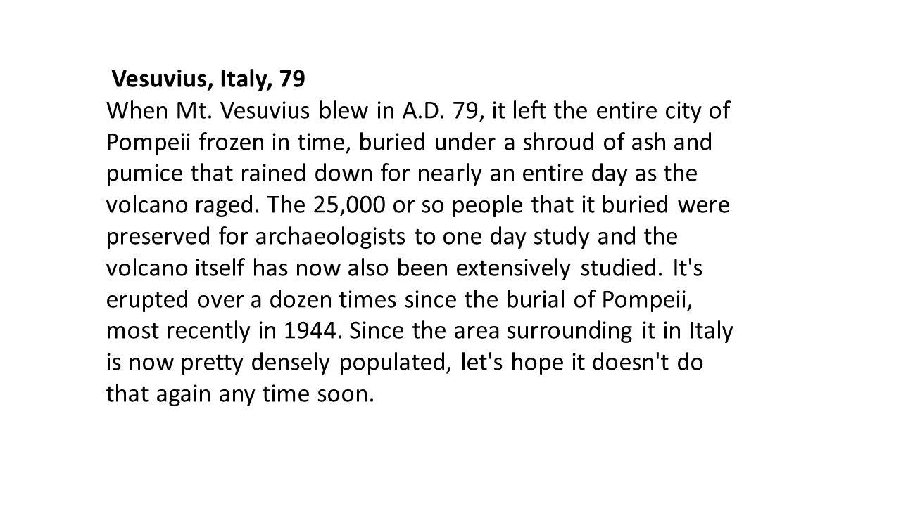 Vesuvius, Italy, 79