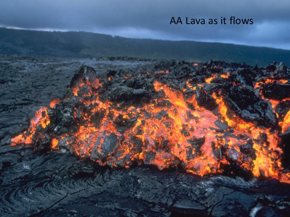 AA Lava as it flows
