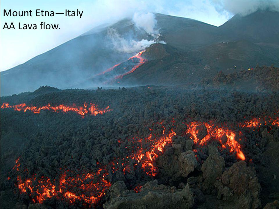 Mount Etna—Italy AA Lava flow.