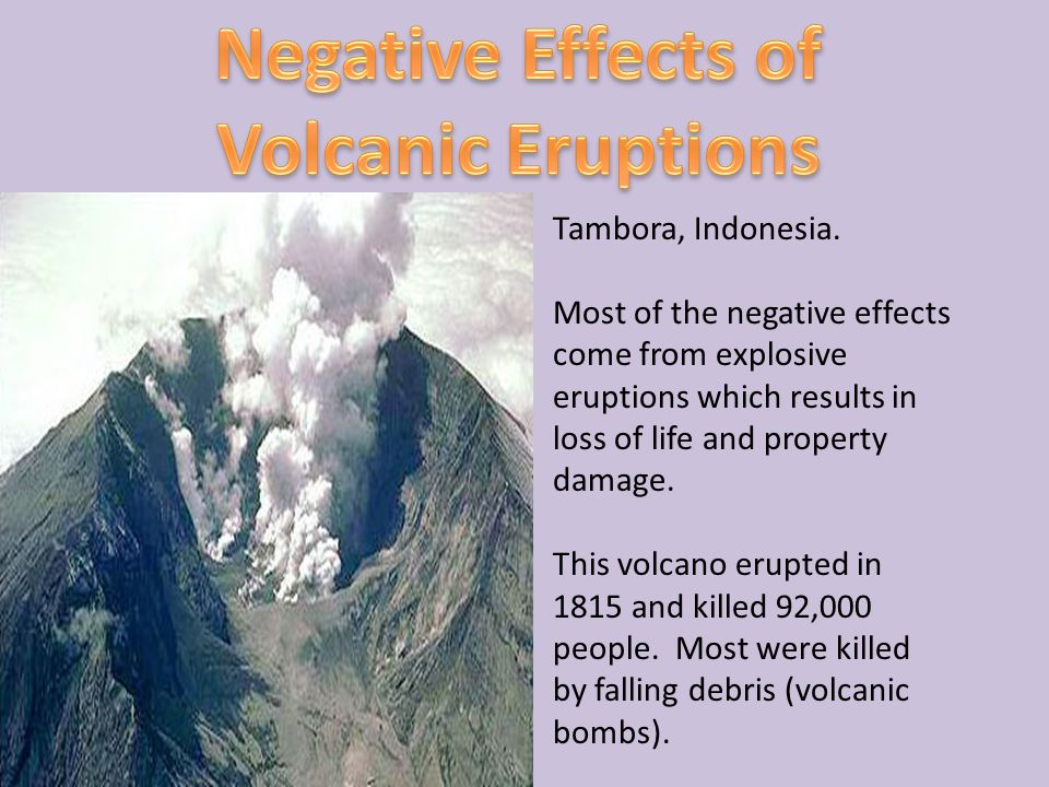 Negative Effects of Volcanic Eruptions