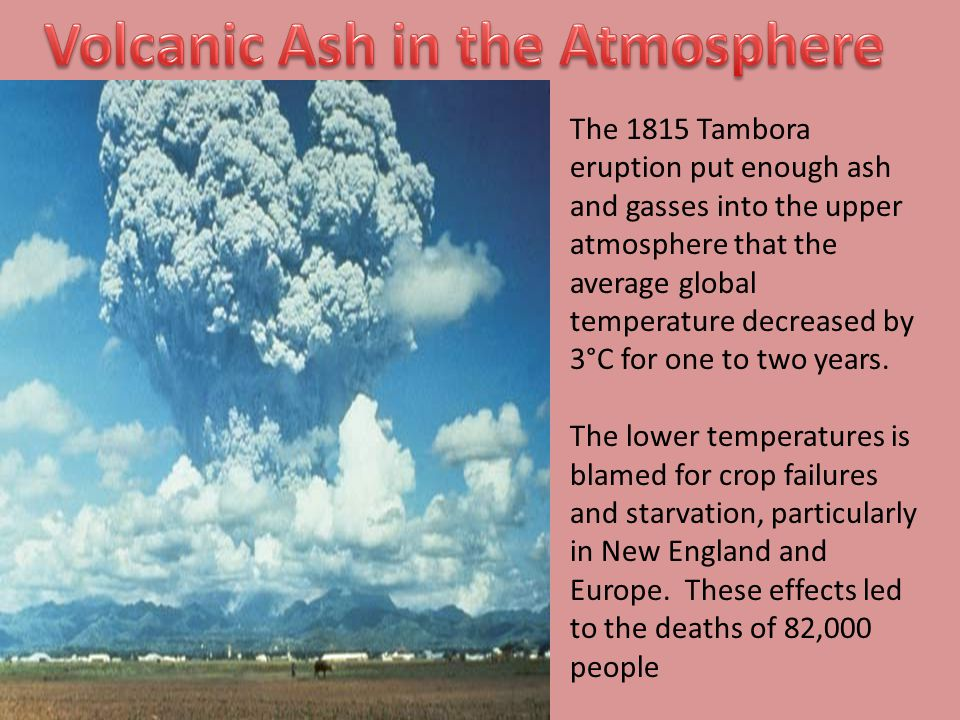 Volcanic Ash in the Atmosphere