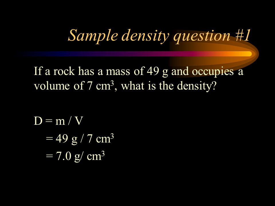 Sample density question #1