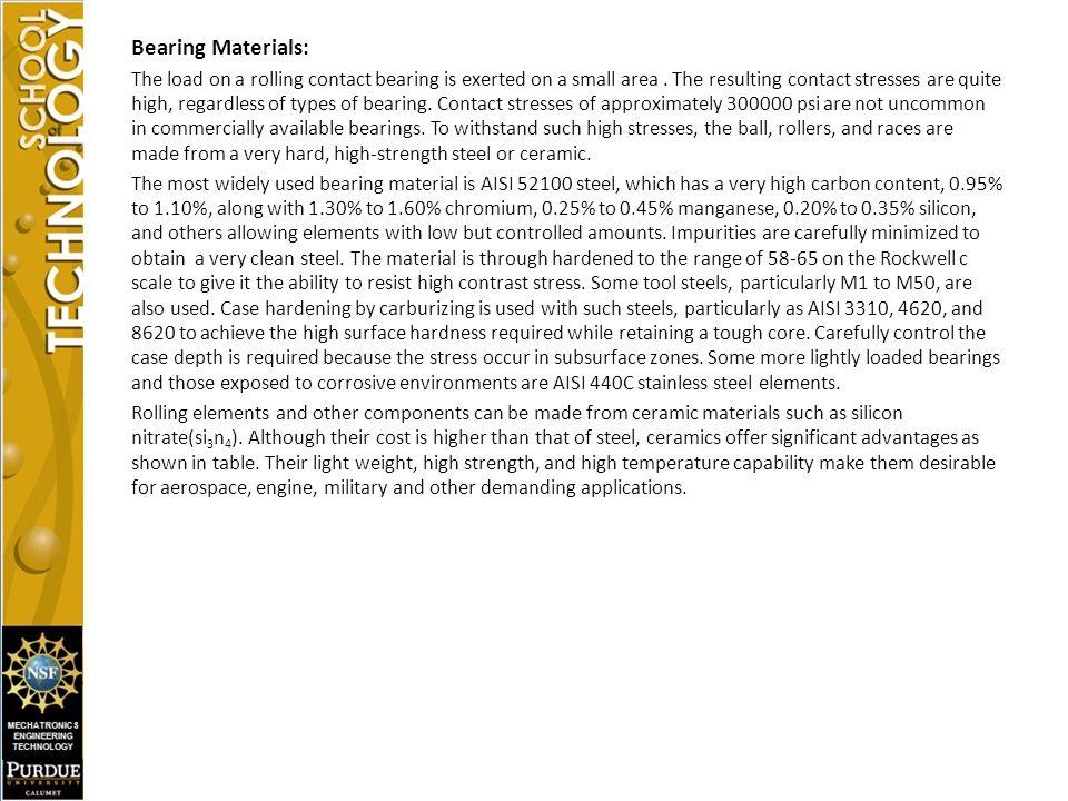 Bearing Materials: