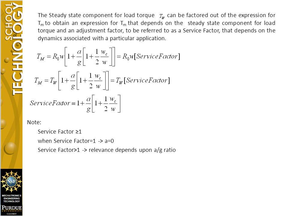 when Service Factor=1 -> a=0
