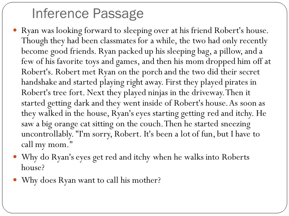 Inference Passage